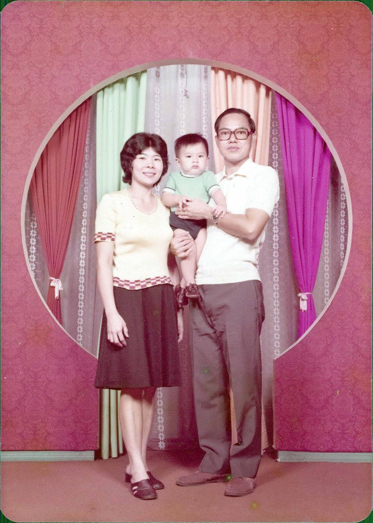 Color photo of a family. Photo Lim Mui Tiang