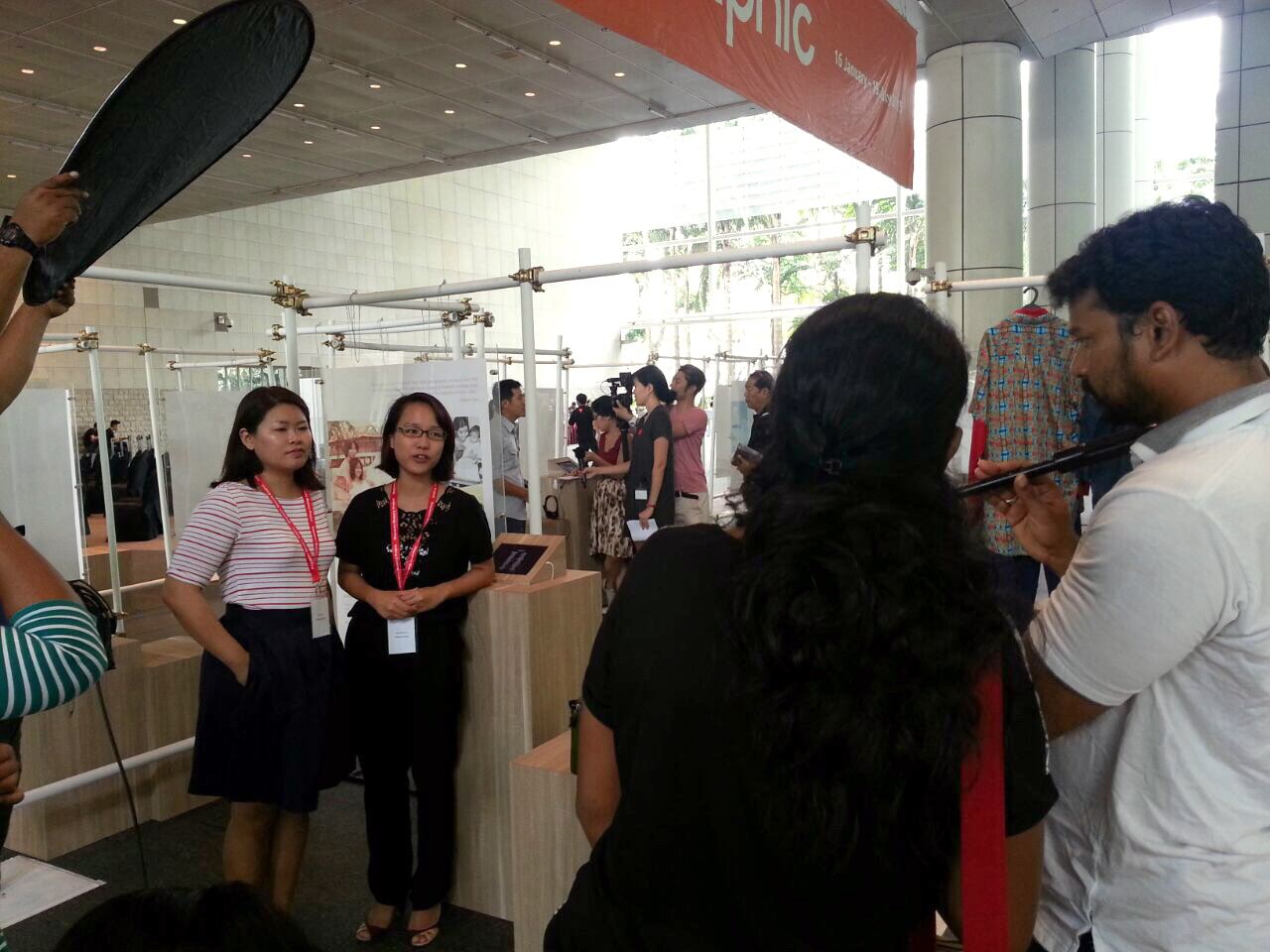 Media team from Mediacorp Vasantham.