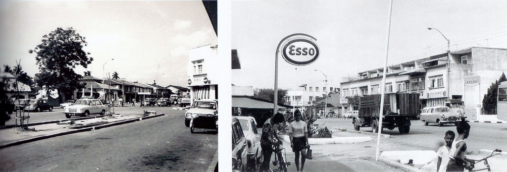 Views of Changi Road from the studio in the 1960s.